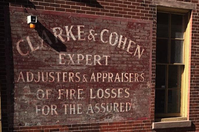 Clarke & Cohen sign olde city Philadelphia